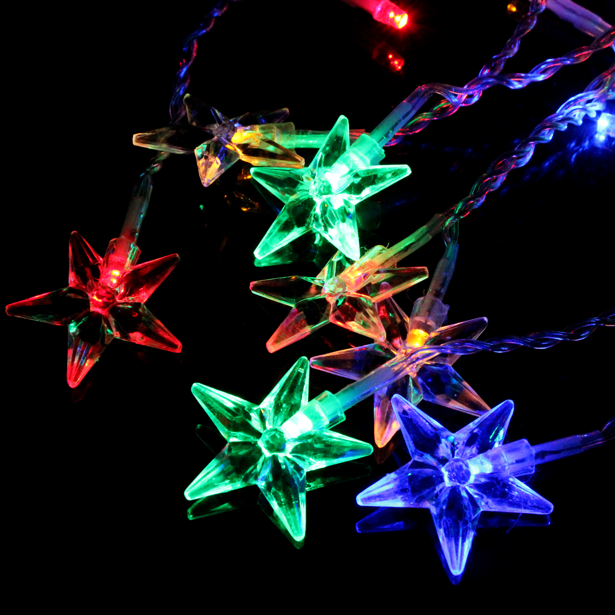NEW 3.5M 100SMD Five-pointed Star String Lights Christmas Holiday Night light Lamp for Home Garden Wedding Decoration 220V