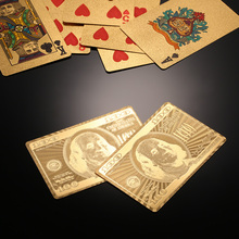 Waterproof Luxury Gold Foil Plated Poker Cards