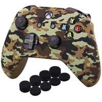 Water Transfer Printing Camouflage Silicone Cover Skin Case for Microsoft Xbox One X & Xbox One S controller x 1 With PRO thum