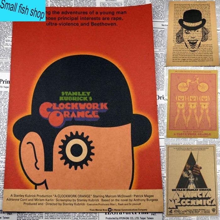 Reunir a clockwork orange classic movie poster decoración del equipamiento caser