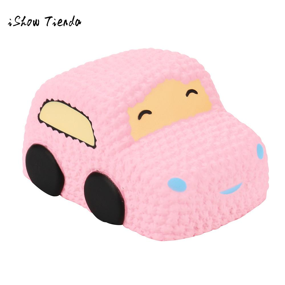 ISHOWTIENDA Car Cartoon mochi Squishy Slow Rising Cream Scented Decompression Toy interesting prank toys anti stress squeeze toy