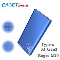 EAGET M20 Тип C 3,1 Gen2 мобильного SSD твердотельный накопитель TLC Поддержка NVME протокол 1 ТБ/512GBT высокая скорость внешней SSD жесткий диск