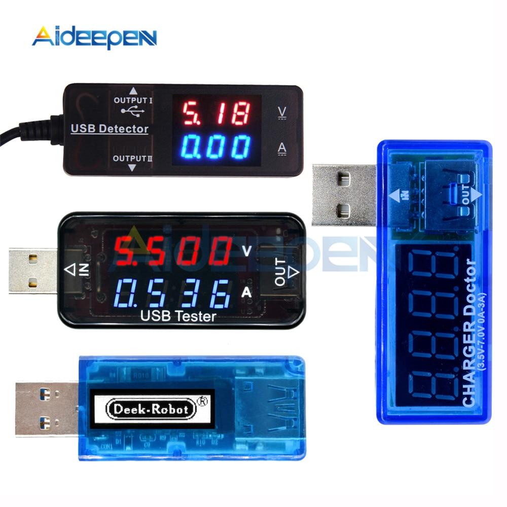 3/4 Digit USB Charger Doctor Digital Charging Battery Voltmeter Ammeter Ampermeter Current Meter USB Detector Smart Function