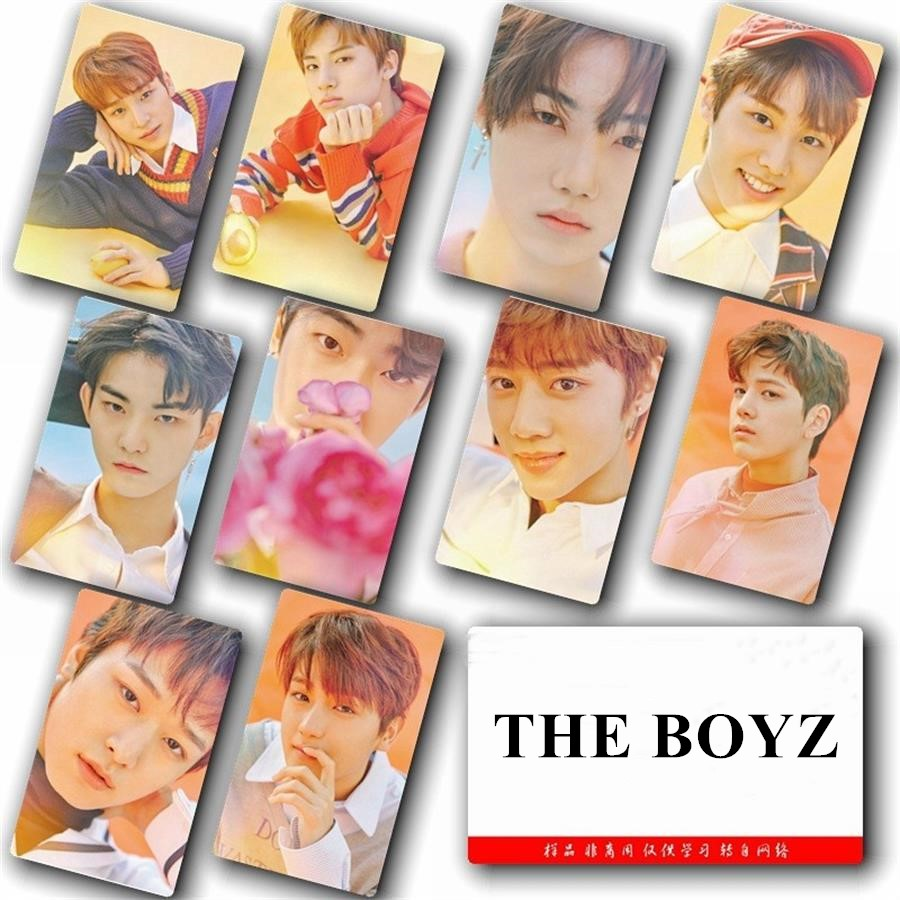 KPOP The Boyz Sticky Photo Card Fashion Photograph Stickers Poster 10pcs/Set