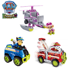 Paw patrol car jungle dog set Nickelodeon vehicle Skye helicopter chase cruiser Marshall action figure model  toy for childre