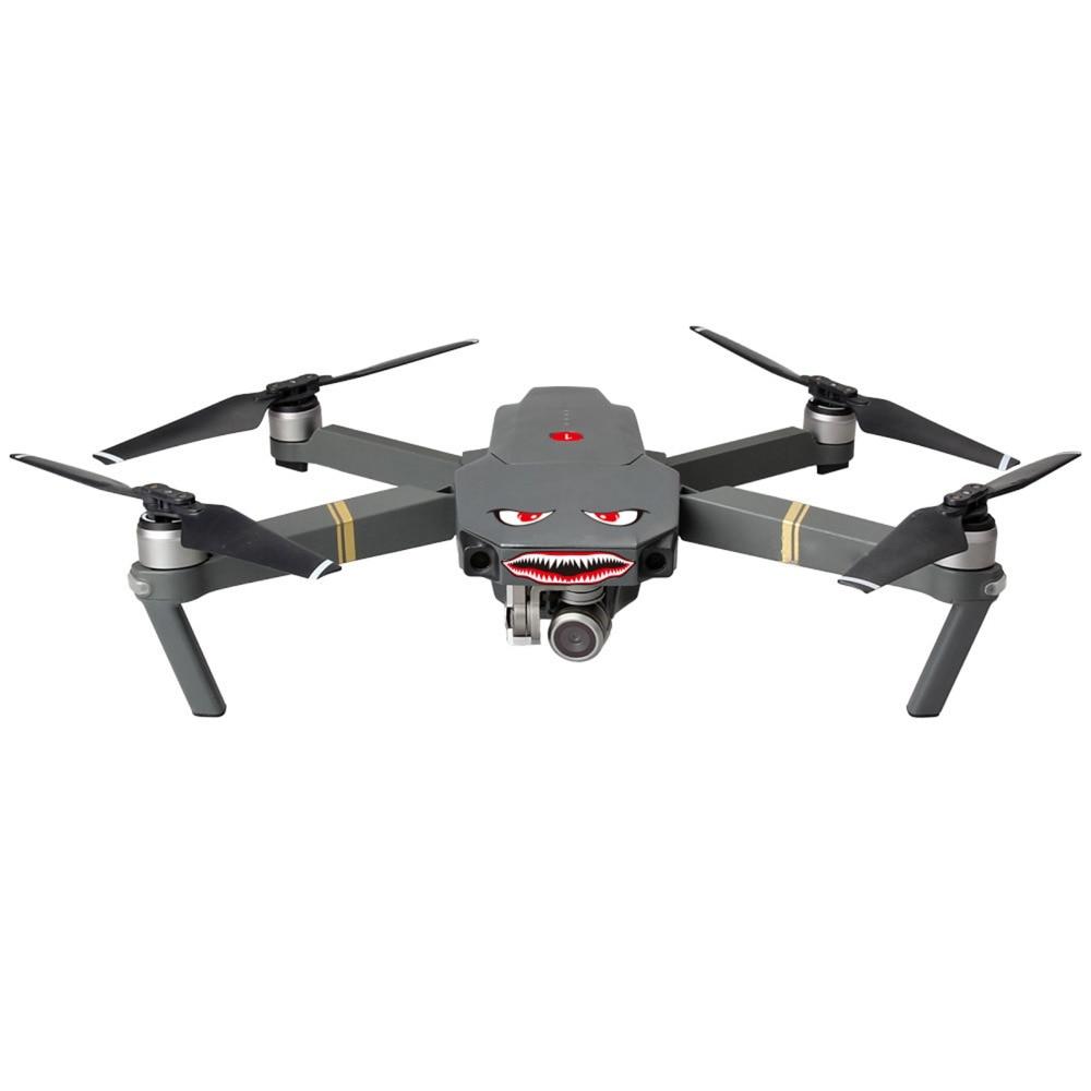 Quadcopter Drone Accessory Parts For DJI DJI Mavic Air// MAVIC PRO// DJI Phantom 3 4 series 2 Pcs Smile Shark Sticker Decal Eyes Skin SPARK Wingsland S6 drone Black Eyes//Blue Eyes