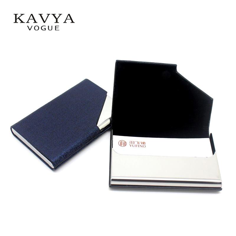 KAVYA 새로운 트렌드 디자인 Bussiness Namecard 홀더 가죽 ID 카드 케이스 은행 카드 홀더 패키지 카드 지갑 선물 상자