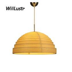 Ręcznie robione wielowarstwowe bambusowe lampy wiszące rolety hotelowa restauracja kawiarnia salon sypialnia drewniana zawieszka wisząca lampa wisząca