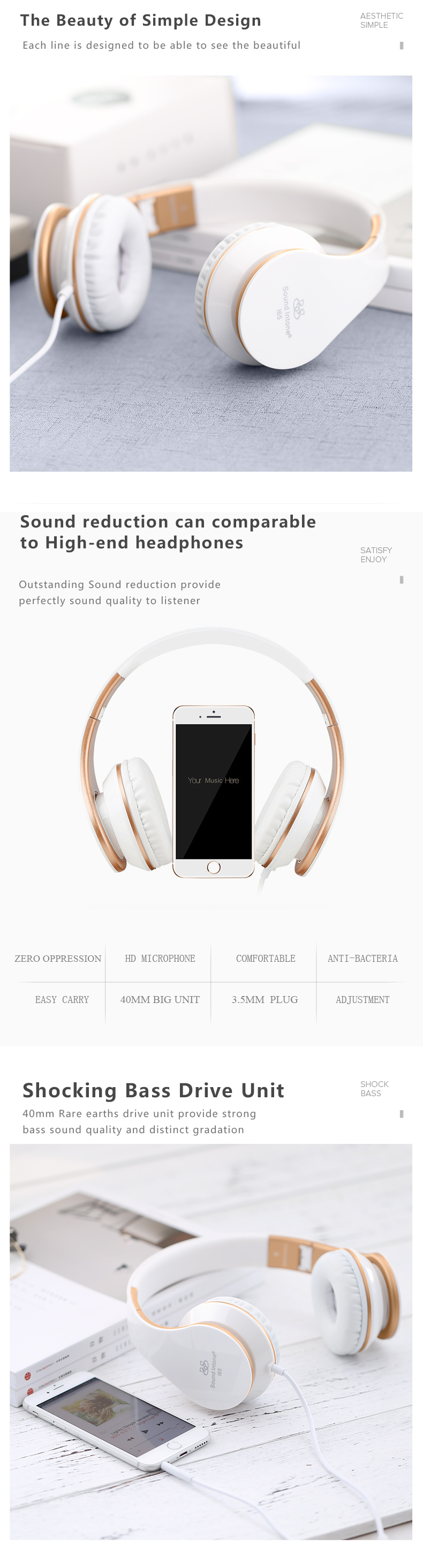 Sound Intone Foldable Headphones With Microphone Volume Control Over E Headphone Mic And Wiring Diagram Resistance 32 Button No Model Number I65 Support App Yes Plug Type Line Package Use Portable Media Player Connectors 35mm Aux