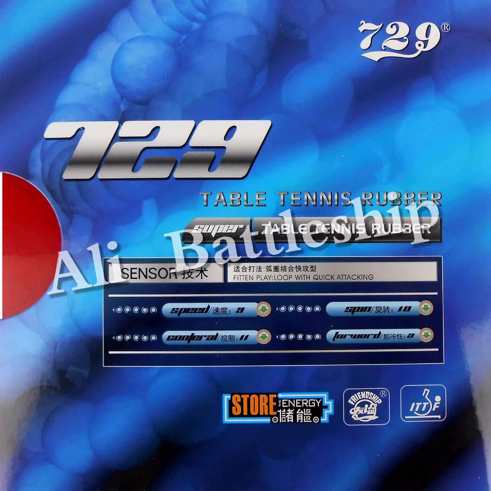 Original RITC 729 Friendship SUPER FX-729 GuoYuehua Pips-in Table Tennis Pingpong Rubber With Sponge