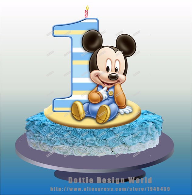 Aliexpresscom Buy Baby Mickey Mouse Edible cake topper wafer