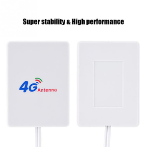 Image 4 - Double White SMA Signal Amplifier Network External Cable Broadband Aerial Vertical WIFI TS 9 Connector LTE Antenna 28DBI 4G 3G