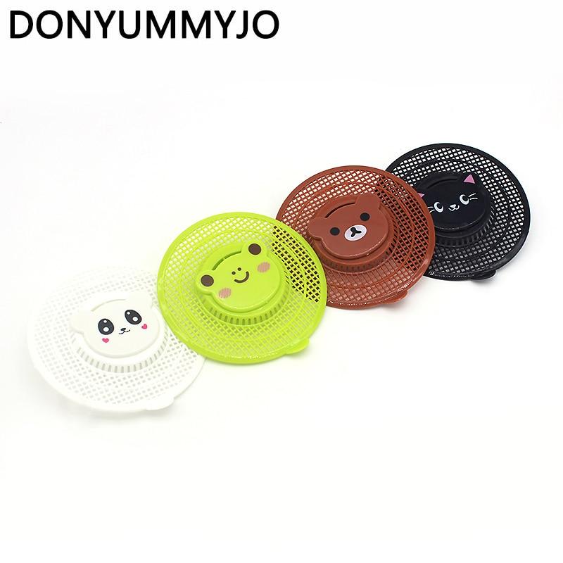 DONYUMMYJO Cute Animal Design Round Shower Basin Bathtub High Quality Hair Trap Strainer Kitchen Sink Mesh Filters 4 Styles