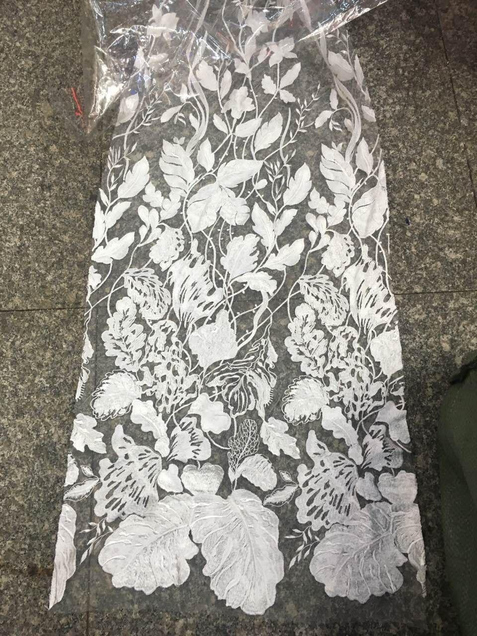 Hoge kwaliteit nigeriaanse veters LJY 52114 wit afrikaanse koord kant franse netto kant stof voor trouwjurk-in Kant van Huis & Tuin op  Groep 1