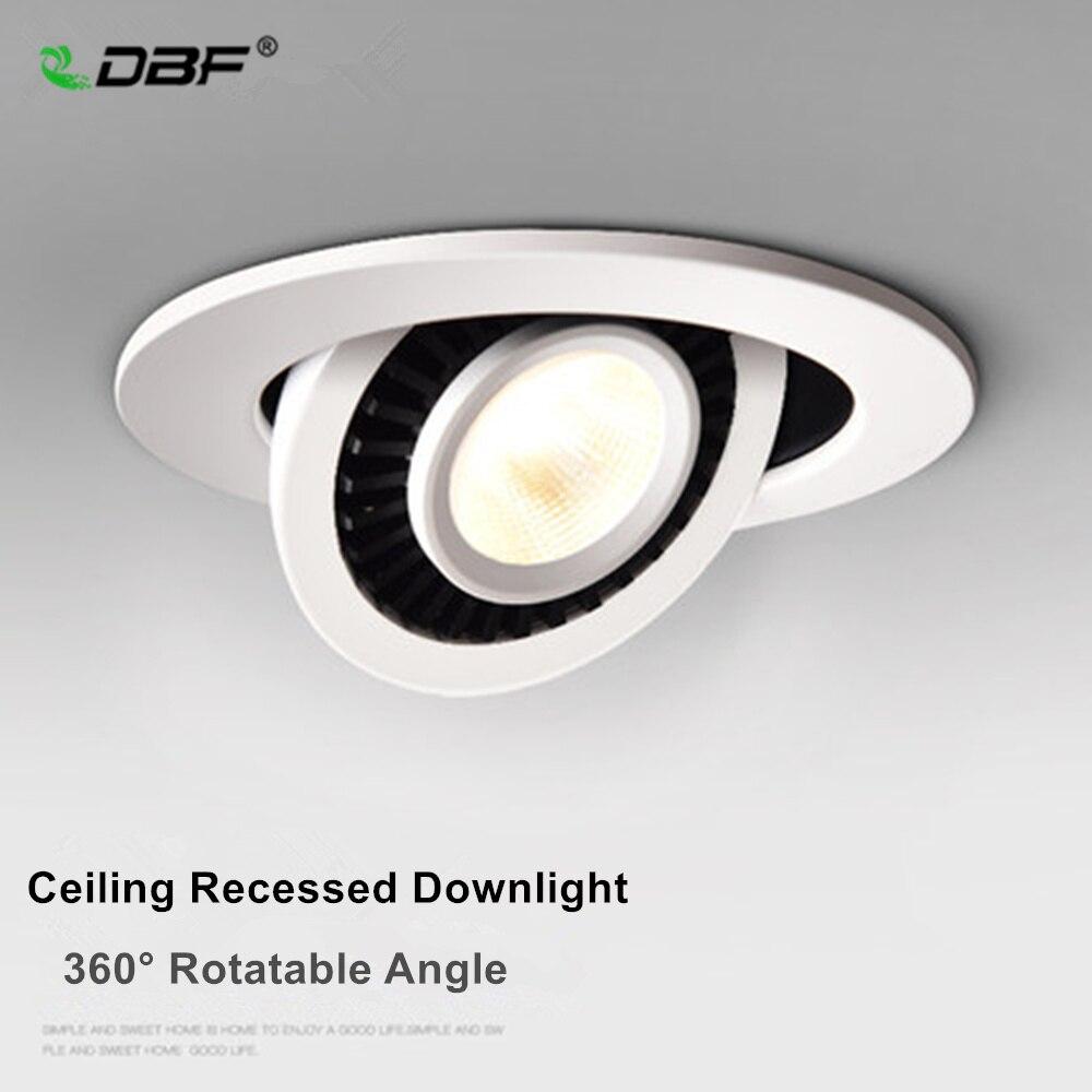 [DBF] Ângulo Rotativo LEVOU Downlight Recesso 5W 7W 10W 15W 18W LEVOU Teto spot Light 3000 K/4000 K/6000 K Black/White Habitação Luz