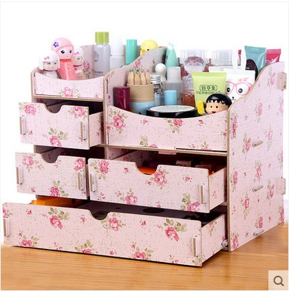 New Diy Wood Makeup Organizer Jewelry Cosmetic Organizer 1010A 1010B