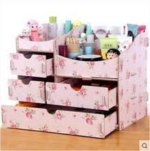 New Diy Wood Makeup Organizer Jewelry Cosmetic Organizer 1010A 1010B 1010C Modern Storage Box Drawer Organizer Wooden Box