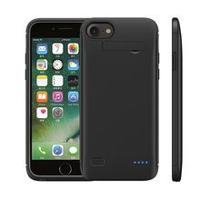 A-pple I phone Battery Charger Case For 5.1 inch screen Soft TPU Charging Phone Power Cover 5200mah for i phone6 p、6sp, 7 p, 8p(China)