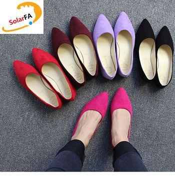 2017 nuevas mujeres de la moda de punto del dedo del pie zapatos de los planos P
