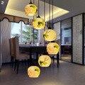 LED E27 Ceramic Pendant Light Stair Bar Droplight Lustre Ball Wire Ceiling Wood Holder Light Hotel Villa Stair Light