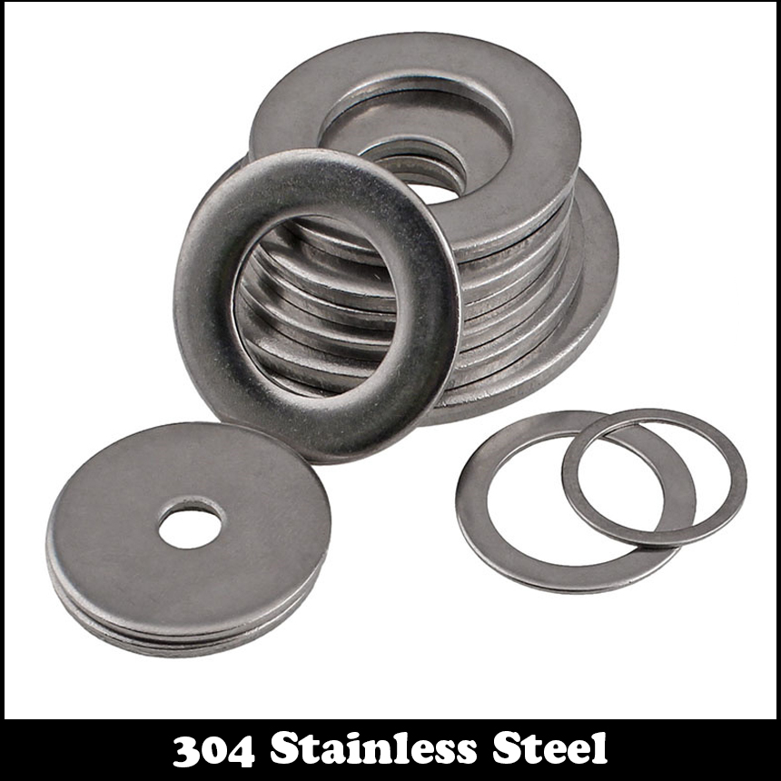 M16 <font><b>M18</b></font> M16*22*1 M16x22x1 <font><b>M18</b></font>*26*1 M18x26x1 4# 304 Stainless Steel 304SS DIN125 Thin Gasket Collar Plain Flat Washer image