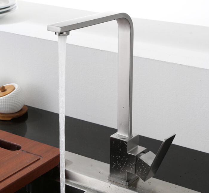 SUS 304 Stainless Steel Rotatable Modern Kitchen Faucet Single Handle Wash Basin Sink Mixer Faucets KF885SUS 304 Stainless Steel Rotatable Modern Kitchen Faucet Single Handle Wash Basin Sink Mixer Faucets KF885
