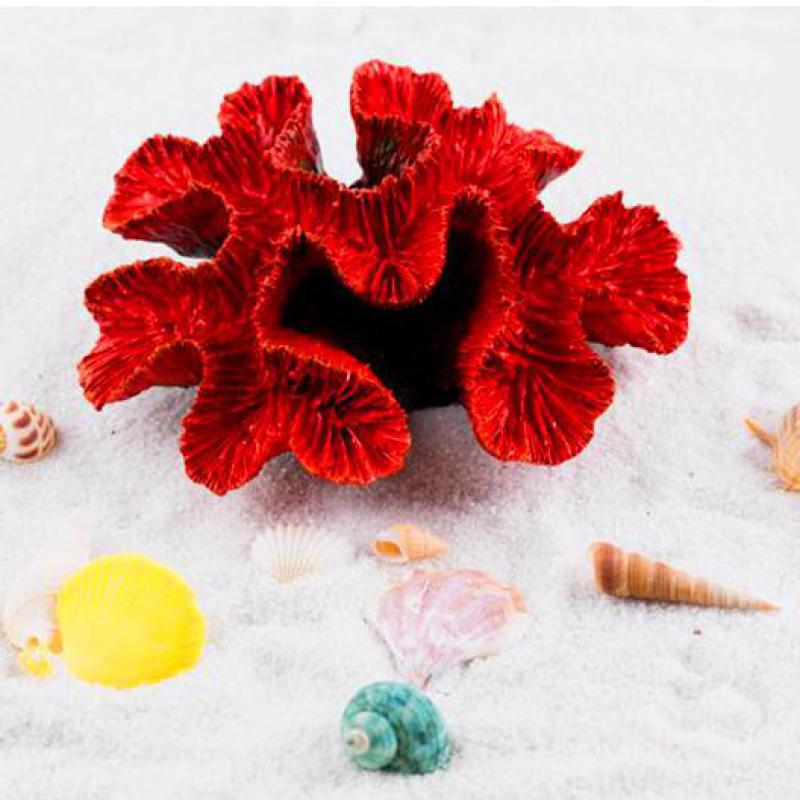 Red Coral Home Decor: New Beautiful Resin Artificial Aquarium Red Coral Reef