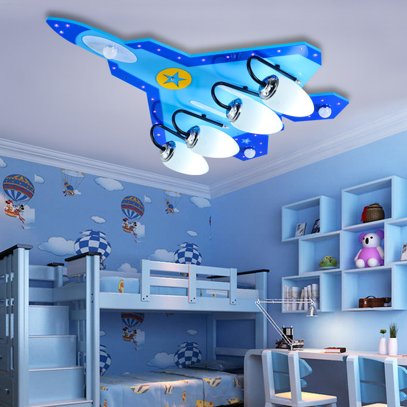 Creative Art Aircraft Ceiling Lamp Bedroom Living Room Eye Protection Light Children Room Cartoon Decoration Lamp Free Shipping free shipping ems room lamp pendant lamp of children room decorate children bedroom lamp cartoon pendant light