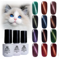 6 Bottles/Set 5ml BORN PRETTY Magnetic Cat Eyes Gel Soak Off UV Gel Polish No Black Base Needed