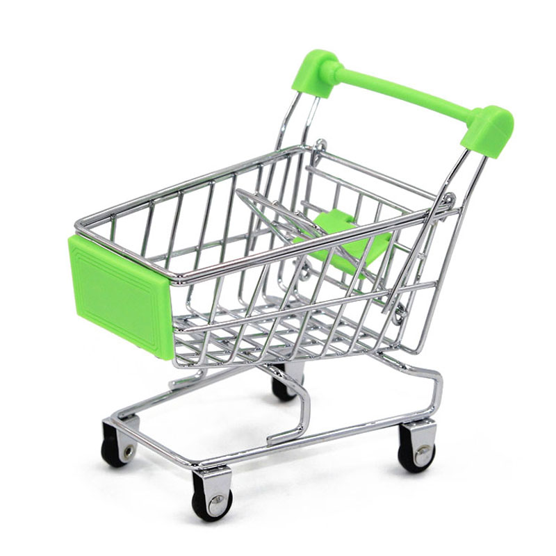 120pcs Mini Supermarket Handcart Utility Shopping Cart Mode Storage Organizer Orange Chidren Gift Kids Toy Christmas Gift ZA1125