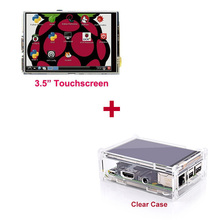 Wholesale 3.5″ LCD TFT Touch Screen Display with Stylus for Raspberry Pi 2 Pi 3 + Acrylic transparent Case Free Shipping