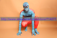 Superhero Red And Gray Cool Spiderman Costume Spiderman Lycra Spandex Full Bodysuit Adult Spider Man Cosplay