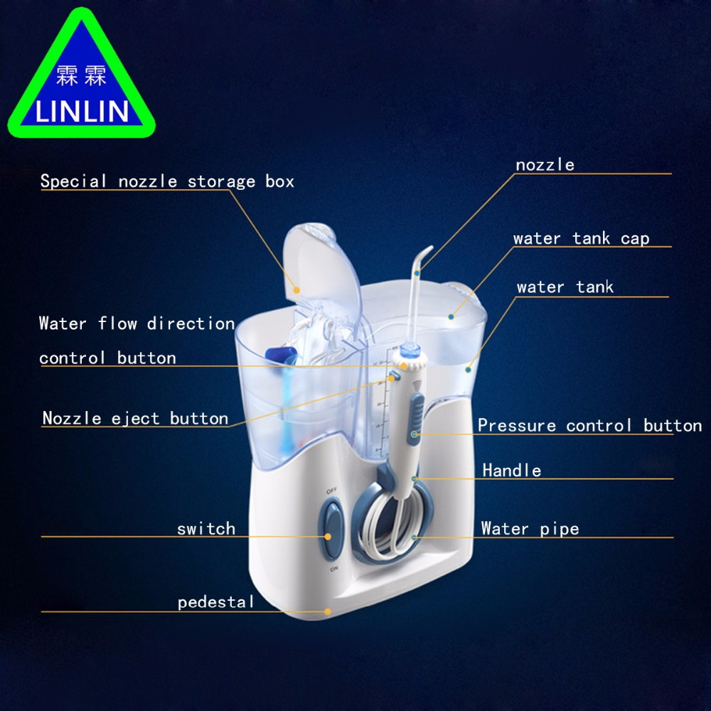 Image 5 - LINLIN H2ofloss Electric  Jet Teeth Waterflosser Dental Shower Cleaning Machine Dental Water Flosser Teeth Whitening Strips-in Teeth Whitening from Beauty & Health