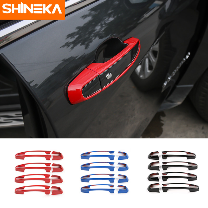 SHINEKA Car Styling Exterior Door Handle Cover Decorative Sticker Handles Trim For Chevrolet Equinox 2017