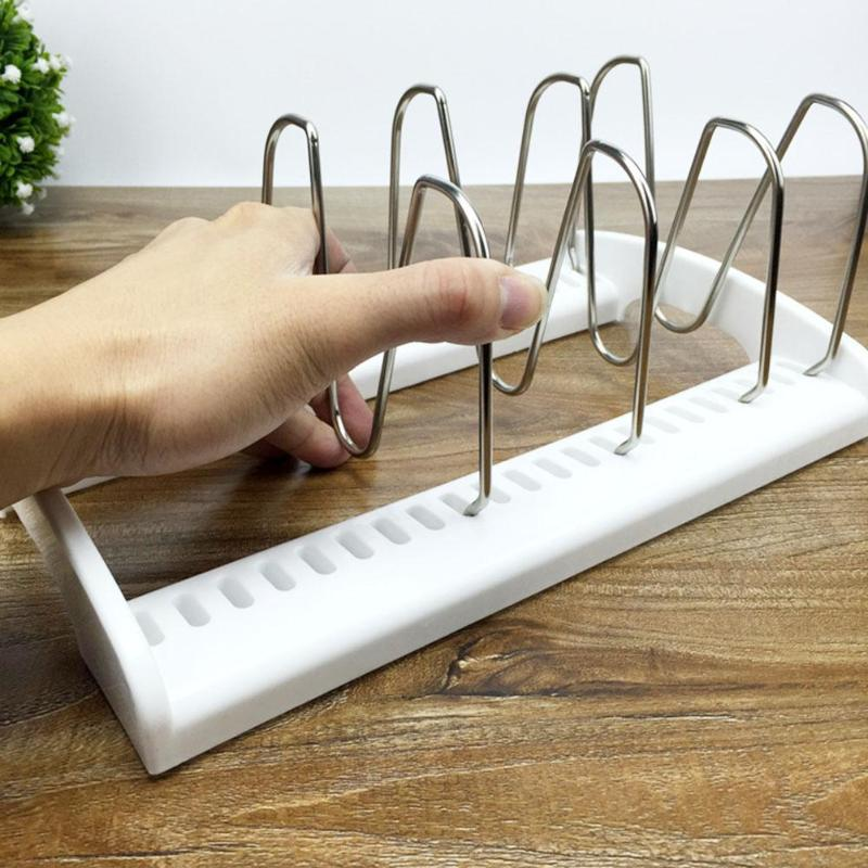 Pan Pot couvercle couvercle support cuillère reste support clips créatif cuisine accessoires Gadget cuisine rangement organisateur cuisson outils
