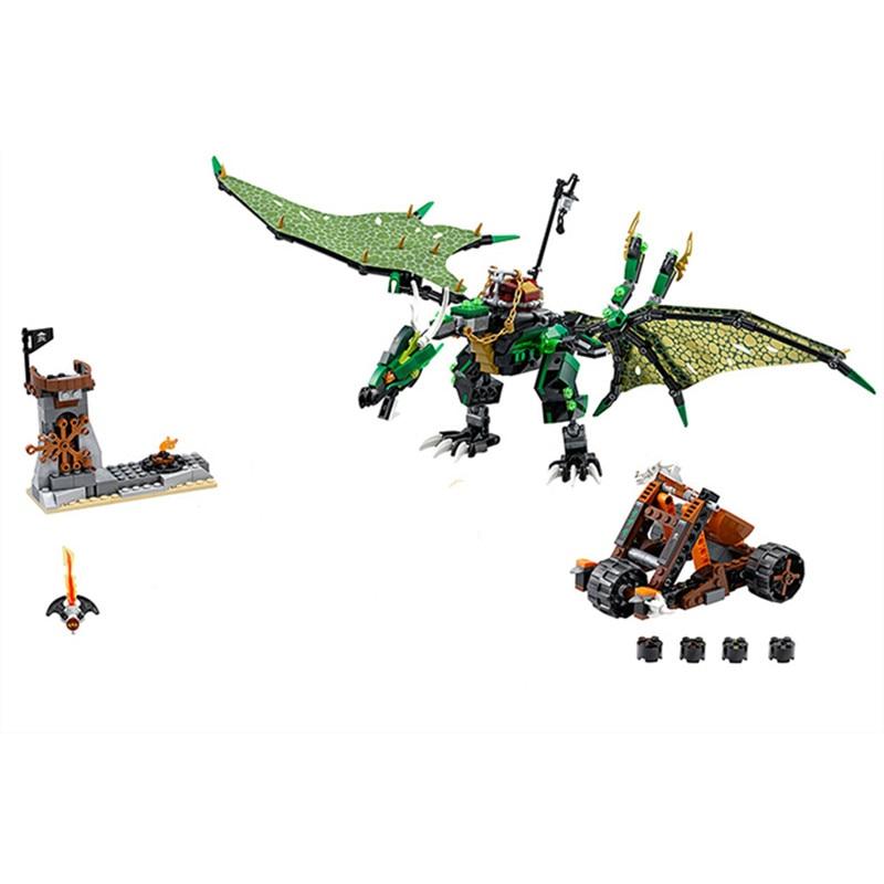 The Green NRG Dragon LEPIN 06036 Model Building Kits Blocks Bricks Toys For Children Gifts 70593 nrg cafs 4450 купить в тольятти