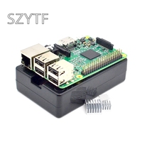 Raspberry Pi 3 Model B Board+black shell Heat sinks 1GB LPDDR2 Quad Core WiFi & Bluetooth