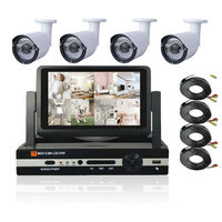 7 inch LCD HD 1080P HDMI 4ch CCTV System 4 channel DVR KIT 720P Video Recorder with 1200TVL Security Camera Home Surveillance