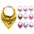 Fashion!! 4pcs/lot New Baby bibs For Boy&Girl burp cloths bandana bibs baby bandana Infant Waterproof Dribble Bibs Bandanas