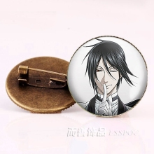 Anime Black Butler Brooches Bronze Badge Kuroshitsuji Ciel Phantomhive Sebastian Grell Madame Red Cosplay Gift недорого