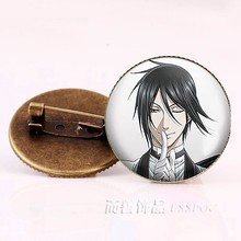Anime Black Butler Broches Bronzen Badge Kuroshitsuji Ciel Phantomhive Sebastian Grell Madame Rode Cosplay Gift(China)