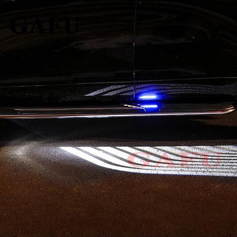 2 pièces ailes d'ange de voiture bienvenue lumière ombre lampe voiture LED lampe d'avertissement de porte pour nissan x-trail xtrail t32 style de voiture