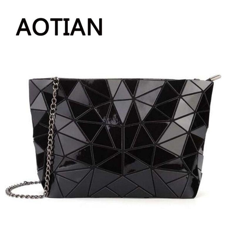 2018 Hologram Women Bao Clutch Laser Bags Casual Tote Fashion Chains Messenger Shoulder Bag Sac A Main Bags Female