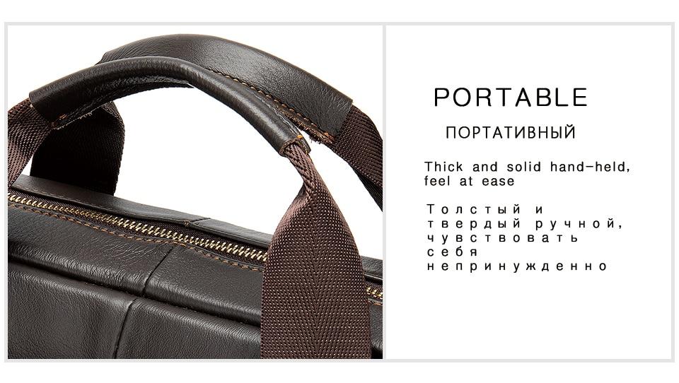 HTB1kuRHVYPpK1RjSZFFq6y5PpXaO WESTAL Men's Briefcase Men's Bag Genuine Leather Laptop Bag Leather Computer/Office Bags for Men Document Briefcases Totes Bags