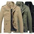 Мужчины Повседневная Куртки И Пиджаки Осень Зима Твердые Хлопок Пальто Плюс размер 4XL военный Тонкий ветровка Пальто Мужская Куртка
