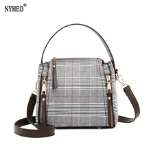 NYHED 2018 New Women Wool Bucket Bags Fashion Female Shoulder High Quality Handbags