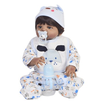 "Reborn dolls 23""57cm full Silicone Reborn Baby African boy black doll  Christmas Gift toy dolls gift bebe  reborn menino"