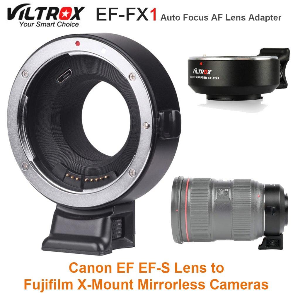 VILTROX EF-FX1 Messa A Fuoco Automatica AF Adattatori per Obiettivi Fotografici per Canon EF Lente per Fujifilm X-T1 EF-S X-T2 X-T10 X-T20 X-A1 X-A2 X -Le Telecamere di montaggio