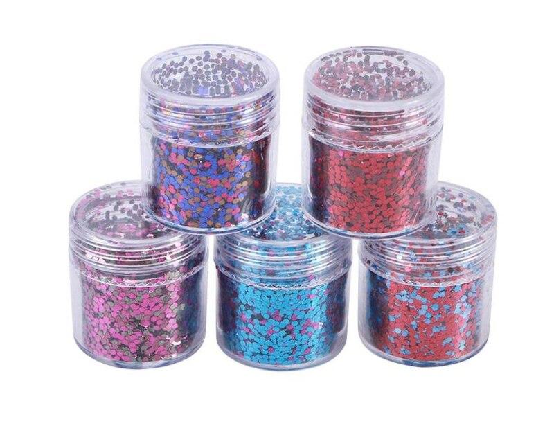 Gemischt Größe Chunky Mix Polyester Glitter Mischt Rot/rose/blau Mix Glitter, 4 Stücke X 10 Ml Chunky Mischung Glitter Verkauft Von Set