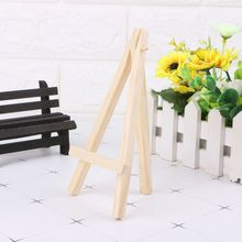 8*15 cm Kids Mini Wooden Easel Art Painting Name Card Stand Display Holder Drawing for School Student Artist Supplies 1PC metal easel for artist painting sketch weeding easel stand drawing table box oil paint laptop accessories painting art supplies